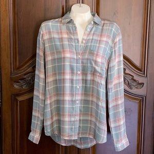 BASS Flannel Long Sleeve Button Down Shirt